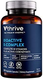Bioactive BComplex Vitamin B + Active Coenzymes for Energy Production (120 Vegetable Capsules)