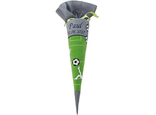 Schultüte Zuckertüte I mit Namen personalisiert I Fussball Street Soccer I Verschiedene Farben I von Glückspilz