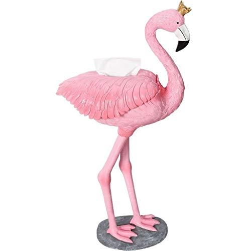 JIANGPENG Freistehender Toilettenpapierhalter, Flamingo Umweltfreundlicher Harz Badetuchbox Toilettenpapierhalter Küchenfachhalter, Pink, 28x20x85cm