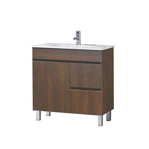 THERMIKET Mueble de Baño con Lavabo de Porcelana con Patas - 2 Puertas y 2 cajones - Mueble va MONTADO - Modelo ISQUIA (Evasión, 60cm)