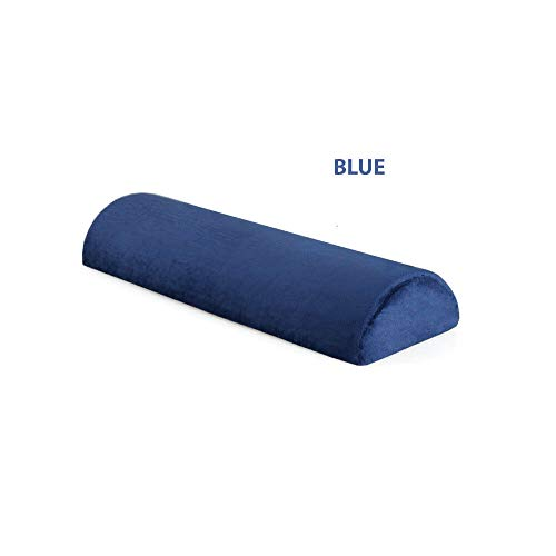 Highliving  Half Moon Memory Foam Cushion - Bed Back Neck Leg Knee Pillow Support (Blue)