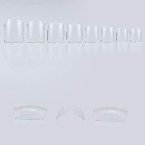 100 tip per unghie dei piedi, trasparenti, ricarica