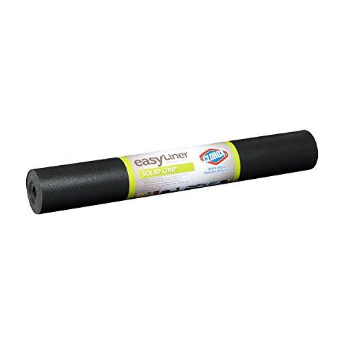 Duck Non-Adhesive Shelf Liner Solid Grip EasyLiner, 20-inch x 6 Feet, Black