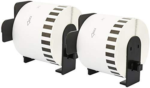 2X DK-44205 62 mm x 30,48 m Endlosetiketten Papier kompatibel für Brother P-Touch QL-1050 QL-1060N QL-1110NWB QL-1100 QL-500 QL-500BW QL-570 QL-700 QL-710W QL-800 QL-810W QL-820NWB, wiederablösbar
