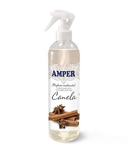 AMPER CANELA 500 ml - Ambientador Pulverización Fina. Larga duración. Aroma Fresco