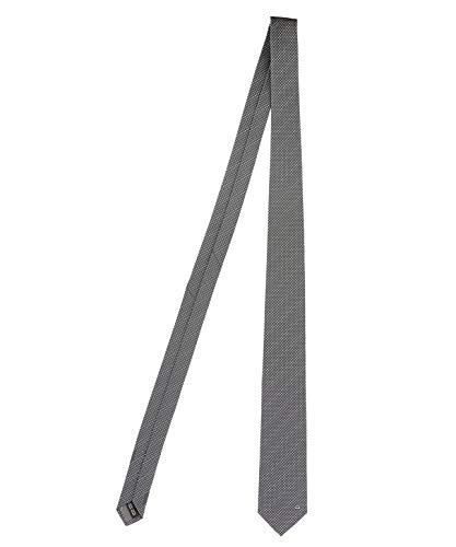 Salvatore Ferragamo Herren 703153 Grau Seide Krawatte