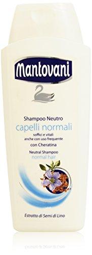 Mantovani - Shampoing neutre, cheveux normaux, 400 ml