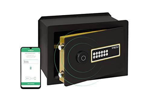 Arregui AWA 221740 - Caja fuerte inteligente para emparejar, Smart Safe, apertura por código electrónico, gestión mediante aplicación móvil, compatible con Amazon Alexa, 27 x 38,5 x 22,5 cm, 13 litros