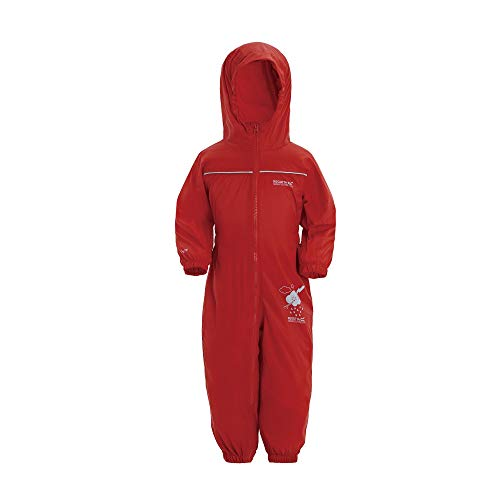 Regatta Kinder Pfütze IV All-in-One Anzug, Rot (Pepper),86 EU (12-18 Months)