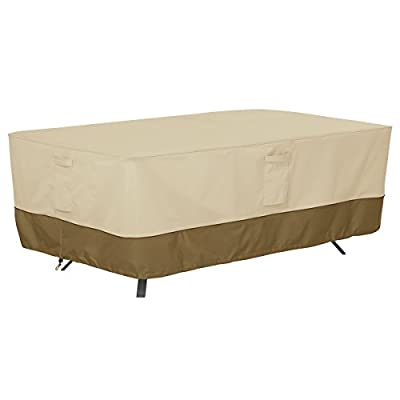 Classic Accessories Veranda Water-Resistant 84 Inch Rectangular/Oval Patio Table Cover