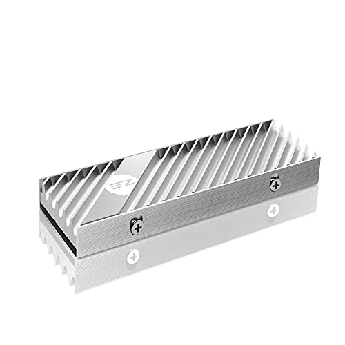 EZDIY-FAB M.2 SSD heatsink 2280, Double-Sided Heat Sink, High Performance SSD Radiator for PC / PS5 for PCIE NVME M.2 SSD or SATA M.2 SSD- Silver