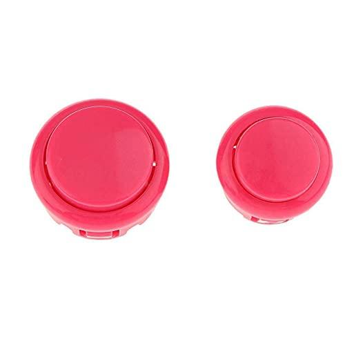 Generic DIY Kit USB Enc r & PC Joystick 5 Pin for Game Controller Pink