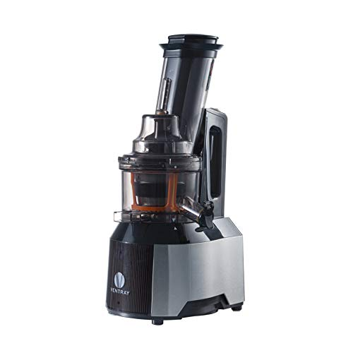 Ventray Masticating Juicer Machines- Slow Juicer Extractor with Wide Chute Big Feeding Mouth - Easy to Clean, Cold Press Juice Maker for Vegetables and Fruits- Black