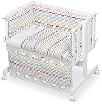 pirulos 24911630 nbsp   nbsp vestidura minicuna colecho  Design ESPIN  Cotton  White and Linen