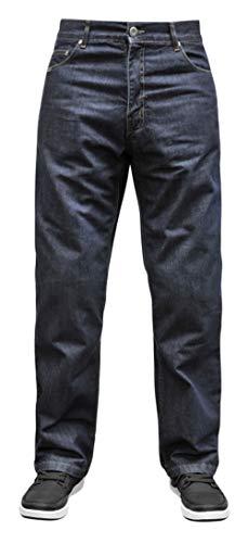 Bilt Iron Workers Mercury Protective CE Armor Aramid Fiber Relaxed Fit Denim Street Bike Motorcycle Riding Jeans - Dark Blue 30