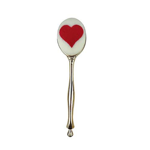 Pinceau de maquillage Fondation brosse en forme de coeur rouge avec amour
