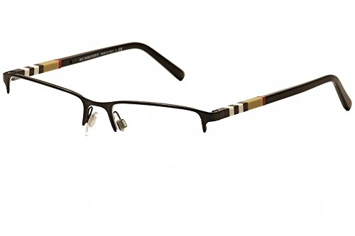 Burberry Men's BE1282 Eyeglasses, Black Palladium, 55-18-145