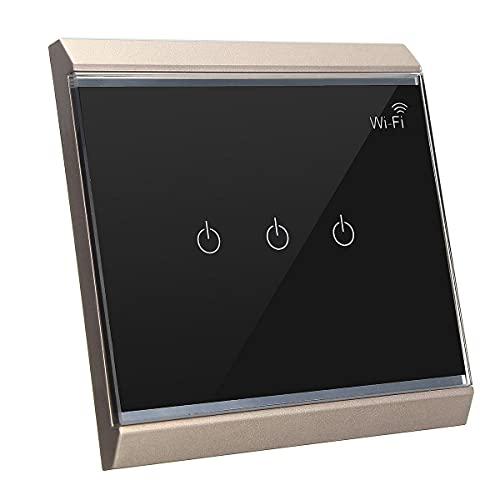 Frieed CA 100V-250V sobre Smart WiFi Socket Externo Levele el Interruptor táctil del Interruptor de la Pared del Interruptor de la Pared Durable (Color : #3)