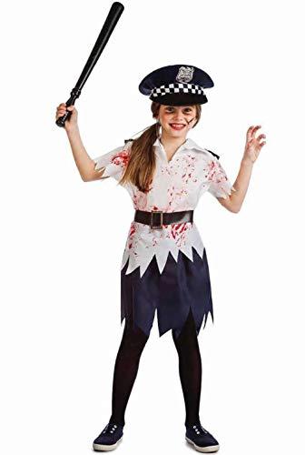 Disfraz Policia Zombi Nia Talla 7-9 aos Tamao Infantil
