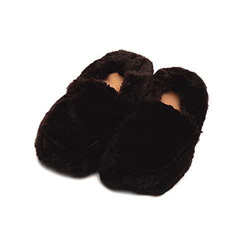 Warmies Cozy Plüsch braun beheizbar Hausschuhe Größe 3–7
