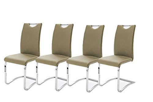 Robas Lund, Stuhl, Esszimmerstuhl, Schwingstuhl, Köln, 4er Set, cappuccino, 57 x 43 x 100 cm, KOEAMCX4