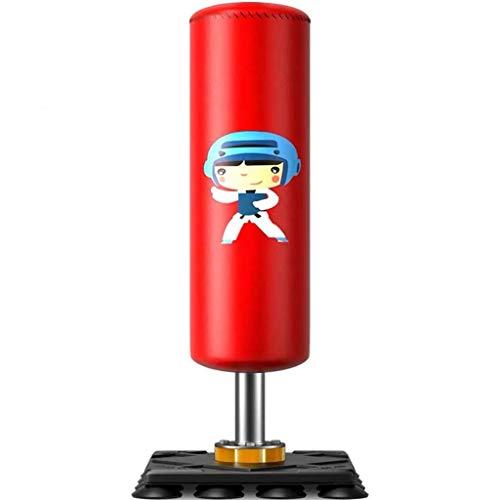 Fitness equipments - Torba dziurkowana z stojakiem, ciężka torba z rękawice uderzeniowe, home siłownia wielofunkcyjna fitness dzieci torba na dziby do kickboxing, boks (kolor: czerwony) / kod towarowy