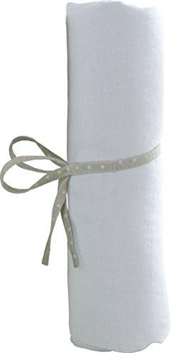 babyCalin Drap Housse Blanc 40 x 80 cm