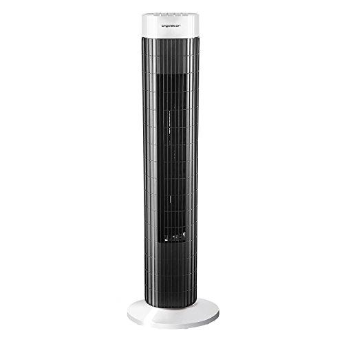 Aigostar Ben 33JTS - Turmventilator mit timer QuietSet | bis zu 45W | 85 ° Oszillation | Timerfunktion + drei Geschwindigkeitsstufen. EINWEGVERPACKUNG.