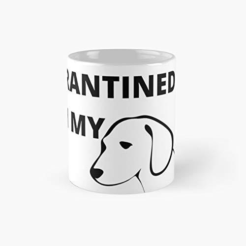 Quarantined With My Dog Classic Mug - 11,15 Oz.