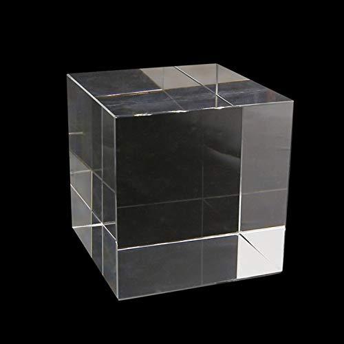 ERTERT Transparente Vidrio Cubo óptico Prism Decoraciones de Cristal Transparente Decoraciones de Cristal Hexahedron para la fotografía K9 de Vidrio óptico Adornos