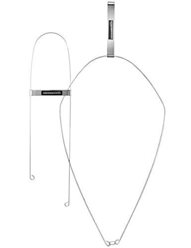 Bügel-Clou, Bügelhilfe, 2er Set, für Ärmel/Hosen & Rumpf, verhindert Falten und Knitter beim Bügeln, spart Zeit, Edelstahl, mit Magnet, 60 x 14 und 70 x 38 cm