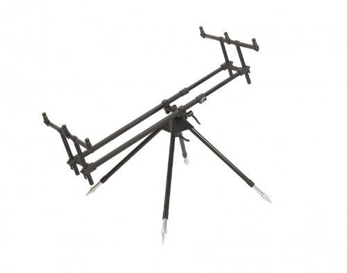 Anaconda Unisex– Erwachsene X-Covery hochwertiges Rod Pod für DREI Ruten, Silber, 3