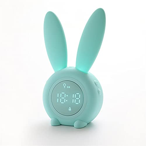 KLHDGFD Reloj despertador con sensor de silicona para noche, con luz para dormir, color C, tamaño: talla única