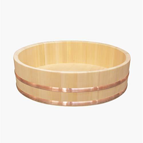 国産高級さわら 木製 飯台 48cm 約2升用 寿司おけ 寿司桶 飯切り