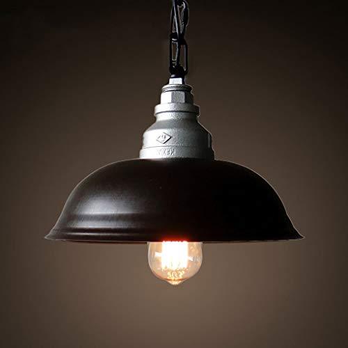 CEXTT Lámparas Retro pote, Artes araña de Hierro Negro, altillo/Restaurante/araña de almacén, Sola Cabeza E27, 100cm Cable de suspensión (Size : 30 * 30 * 20CM)