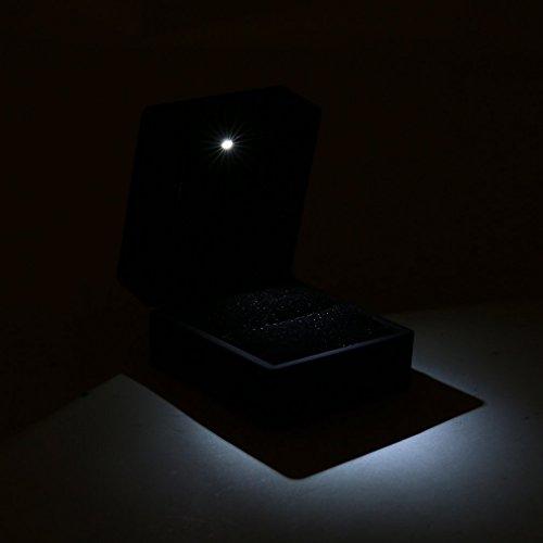 KinshopS Fidanzamento di visualizzazione di Gioielli in Gioielli da Matrimonio con Scatola di Orecchini ad Anello Illuminati a LED