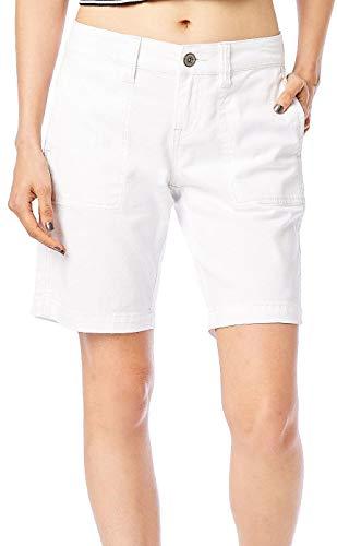 Supplies by Union Bay Womens Nadeen Bermuda Shorts 12 White