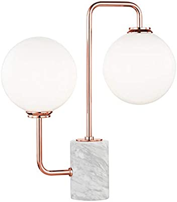2 Light Table Lamp with A Marble Base