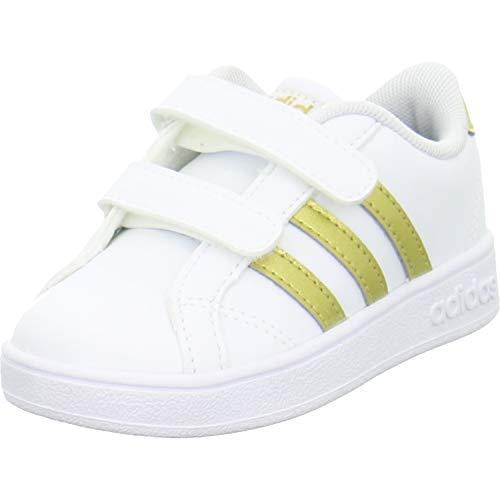 Adidas Baseline CMF INF, Zapatillas de Estar por casa Bebé Unisex, Multicolor (Ftwbla/Dormat/Negbás 000), 20 EU