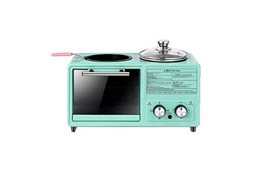 CROW Máquina de Desayuno para el hogar, Horno eléctrico multifunción, máquina de Pan, electrodomésticos de Cocina Perezosos Tres en uno, Horno, Horno eléctrico de bajo Consumo, Horno eléctrico y par