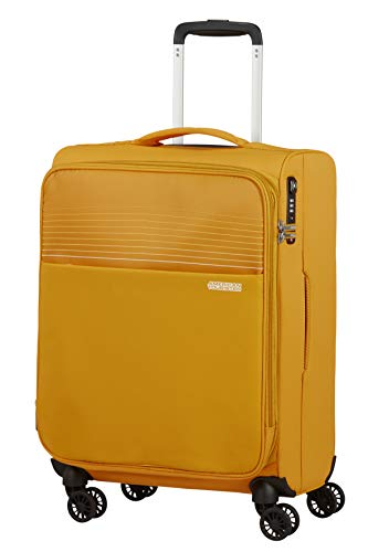 American Tourister Lite Ray Equipaje- Equipaje de mano, Spinner S erweiterbar (55 cm - 48.5 L), Golden Yellow