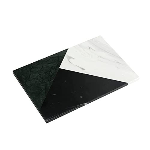 NZKW Bandejas Decorativas, bandejas de mármol articuladas tricolores de Lujo Modelo Habitación Sala de Estar Tazas de Agua y té Tapete Aislante Mini Tablero de Cocina Bandejas de baño S