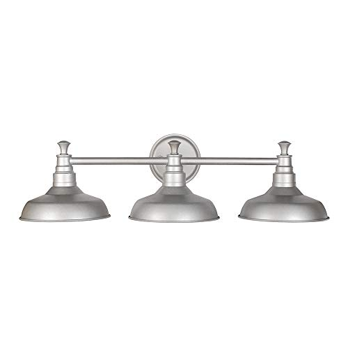 Design House 520312 Kimball Industrial Farmhouse Indoor Light with Metal Shade, Vanity, Galvanized