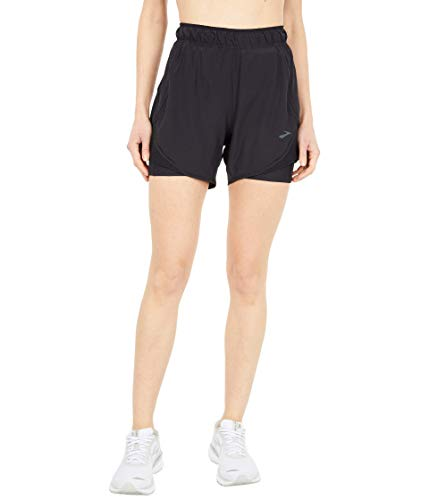 """Brooks Chaser 5"""" 2-in-1 Shorts Black XS (US 2-4) 5"""
