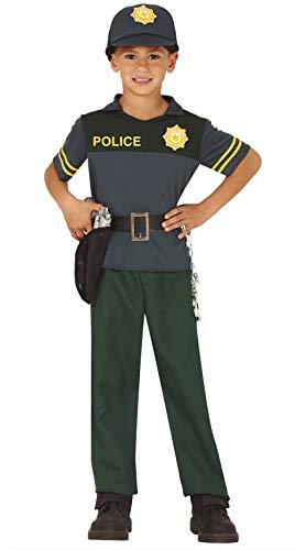 FIESTAS GUIRCA Disfraz policia español Guardia Civil Infantil Talla 5-6 años