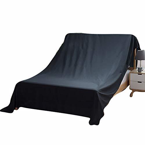 WGE Bett Staubschutz Möbel Schutzhülle Vlies Atmungsaktiv Mehltau Decken Bett Sofa Möbel Abdeckung | Schwarzer Möbelbezug | Bewegliche Decke | 100-700Cm,200Cm*240Cm