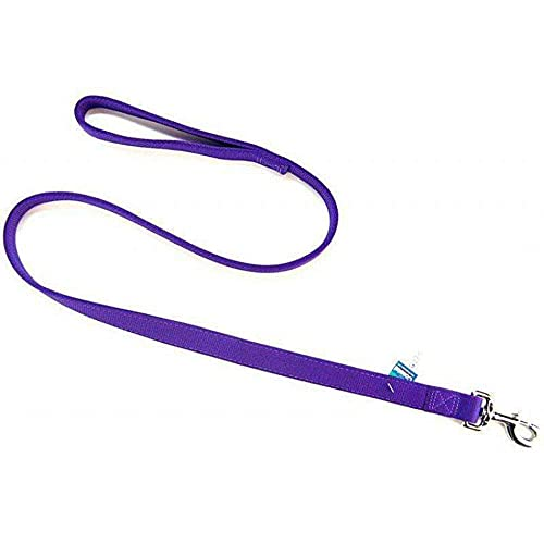 coastal pet dog leashes Coastal Pet Double-Ply Nylon Dog Leash / Lead (Purple, 4 ft. L x 1 Inch W)