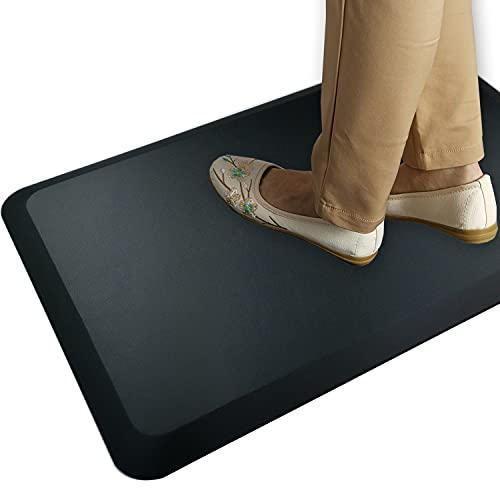 HEALEG Komfort Anti-Ermüdungsmatte perfekt für Küchen und stehend Schreibtische, schwarz, 20x30x1-Inch