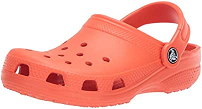 Crocs Women's Classic Clog | Comfortable Slip on Casual Water Shoe, Tangerine, 11 M US Women / 9 M US Men