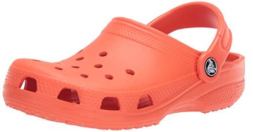 Crocs unisex adult Classic | Water Shoes Comfortable Slip on Shoes Clog, Tangerine, 8 Women 6 Men US